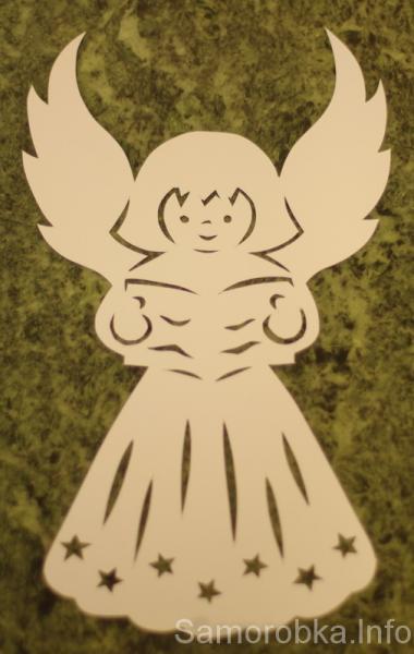 Різдвяна витинанка - Ангел | Саморобка